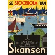 Se Stockholm från Skansen plansch 50x70