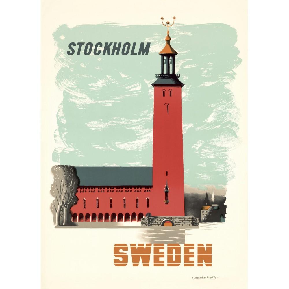Stadshuset i Stockholm Kauffer plansch 50x70