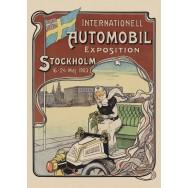 Automobil Stockholm plansch 50x70