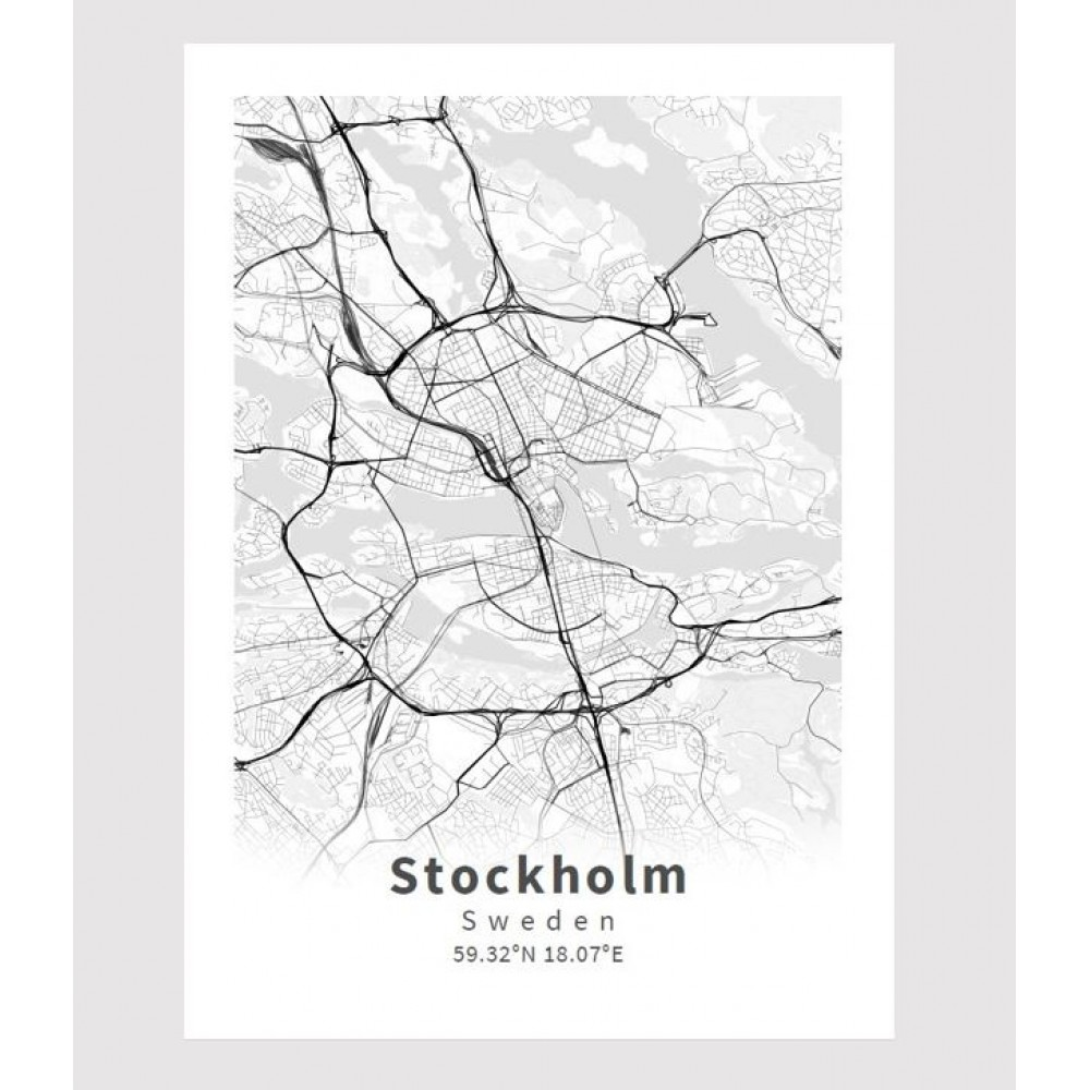 Stockholm poster Designkartan by Kartbutiken