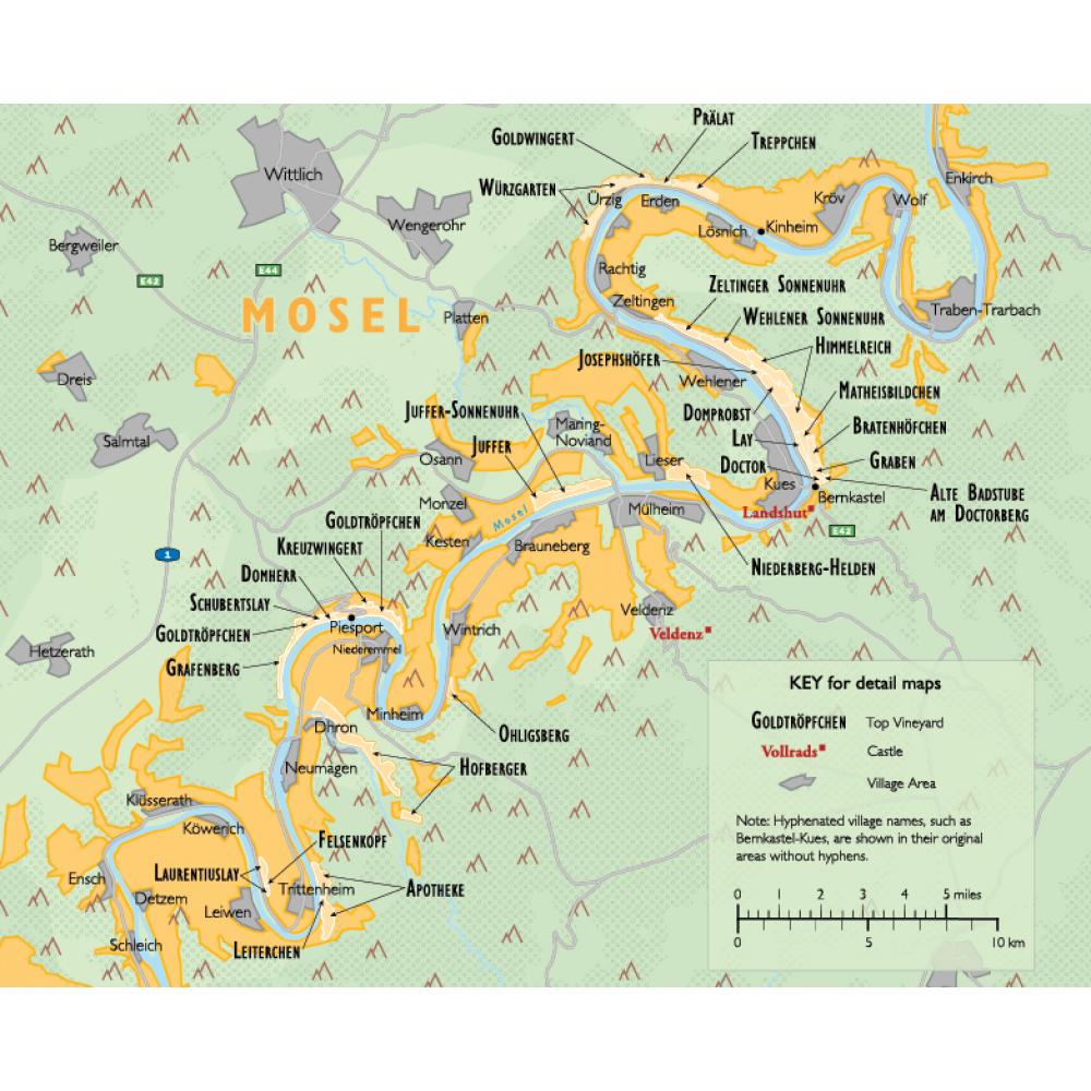 Vinkarta Tyskland väggkarta