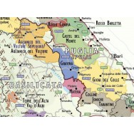 Vinkarta Italien väggkarta