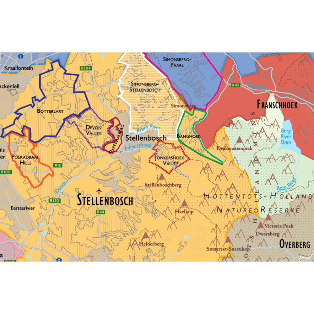 Vinkarta Sydafrika väggkarta