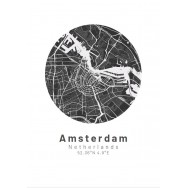 Amsterdam poster Designkartan by..