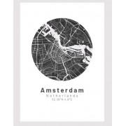 Amsterdam poster Designkartan by Kartbutiken