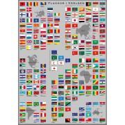 Flaggor i Världen plansch