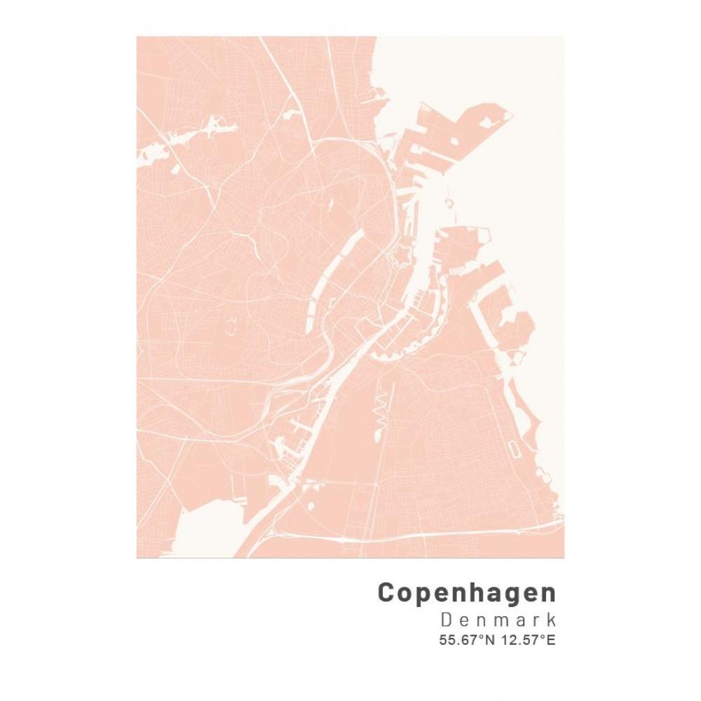 Köpenhamn poster Designkartan by Kartbutiken