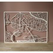 Kungsholmen Träkarta 56x40cm Papurino