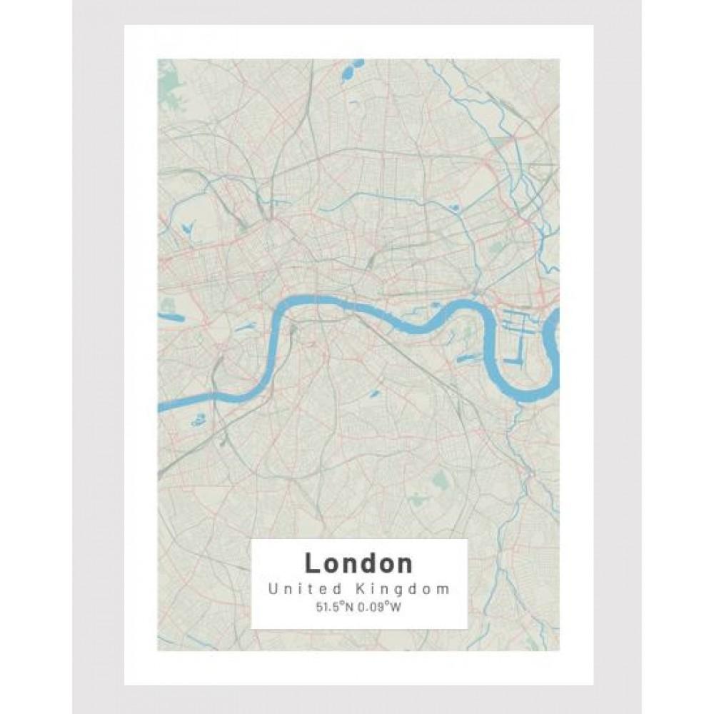 London poster Designkartan by Kartbutiken