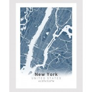 New York poster Designkartan by Kartbutiken