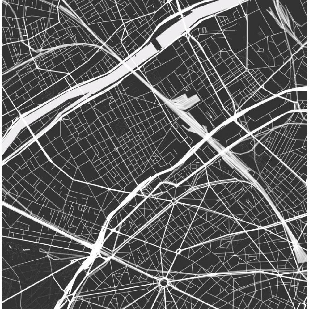Paris poster Designkartan by Kartbutiken