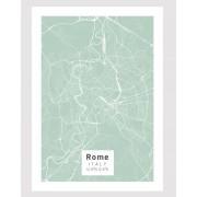 Rom poster Designkartan by Kartbutiken