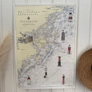 Poster Östersjön med fyrar
