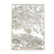Stockholm Träkarta 50x70cm Papurino