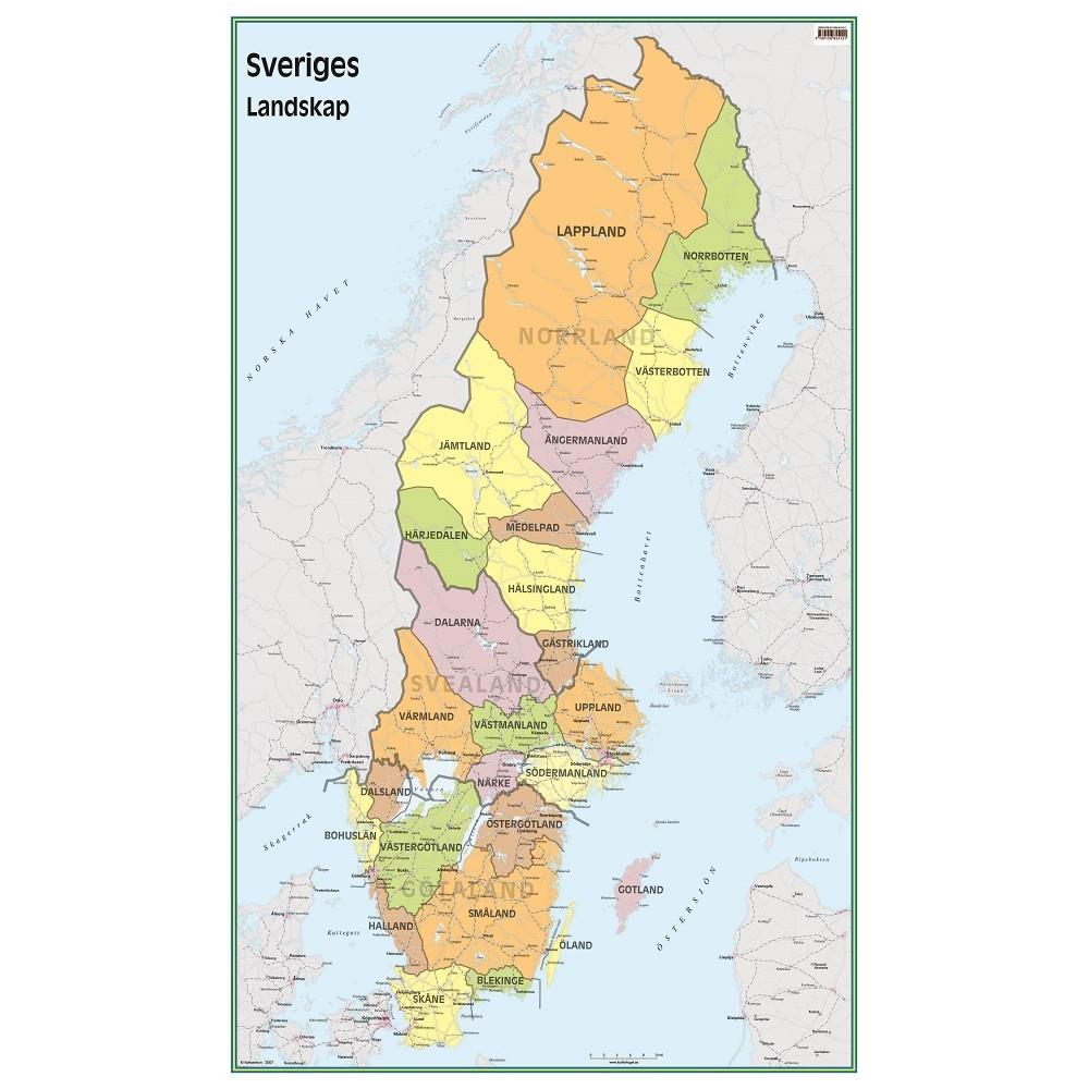 Sveriges Landskap 50x83cm